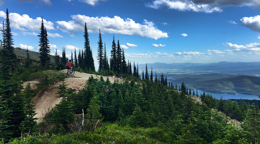 Whitefish mountain resort has miles of lift accessed biking