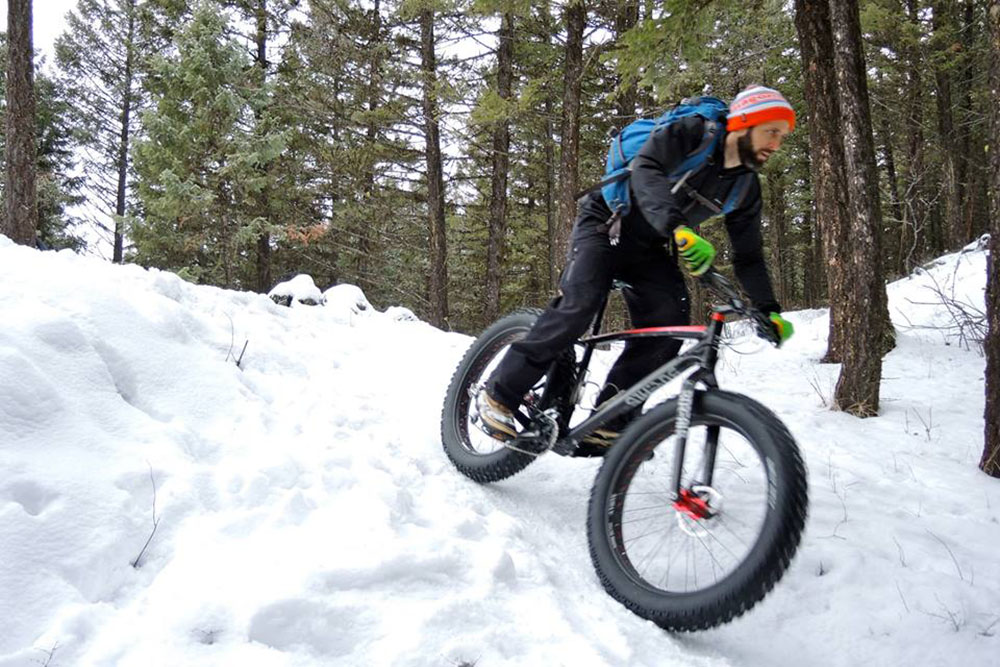 Fatbiking is available right out the door at the Whitefish Bike Retreat