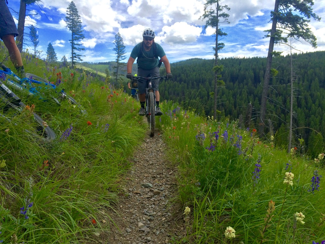 The reid divide trail is a true high alpine experience